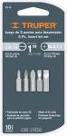 Набор бит 5 шт PH-0,1,2 S3/16 S1/4 25 мм, повышенной прочности, сталь S2, P5-15, TRUPER, 17780