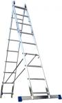 Лестница двухсекционная универсальная алюминиевая усиленная 2х15, АЛЮМЕТ, 6215