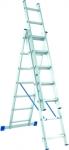 Лестница, 3 х 6 ступеней, алюминиевая, трехсекционная, СИБРТЕХ, 97816