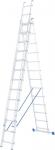 Лестница, 3 х 13 ступеней, алюминиевая, трехсекционная, СИБРТЕХ, 97823