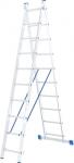 Лестница, 2 х 10 ступеней, алюминиевая, двухсекционная, СИБРТЕХ, 97910