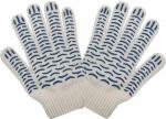 """Перчатки вязаные, """"Волна"""", класс вязки 7,5, Х/Б с ПВХ напылением, КОНТРФОРС, 040774"""