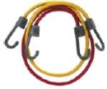 Шнур крепежный, резиновый, синтетическая оплетка, пластиковые крючки, комплект 2 шт, КОНТРФОРС